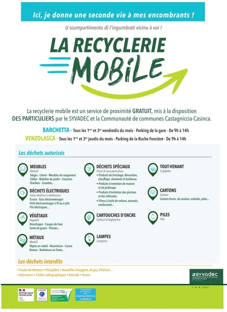 Recyclerie mobile.